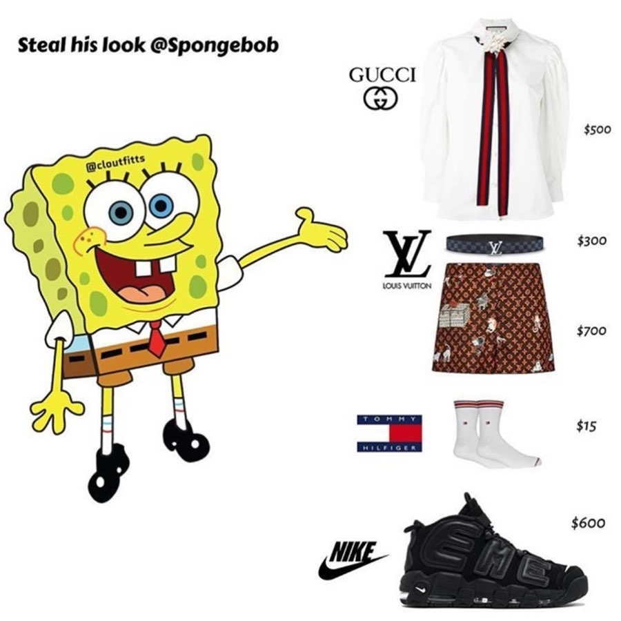 Spongebob, Patrick, Squidward or Mr Krabs ⠀  @cloutfitts...