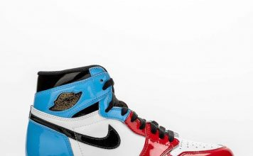 """Here's a detailed look at the Air Jordan 1 Retro High """"Fearless,"""" which showcase..."""