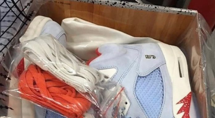Here's a first look at the Trophy Room x Air Jordan 5  Thoughts?...