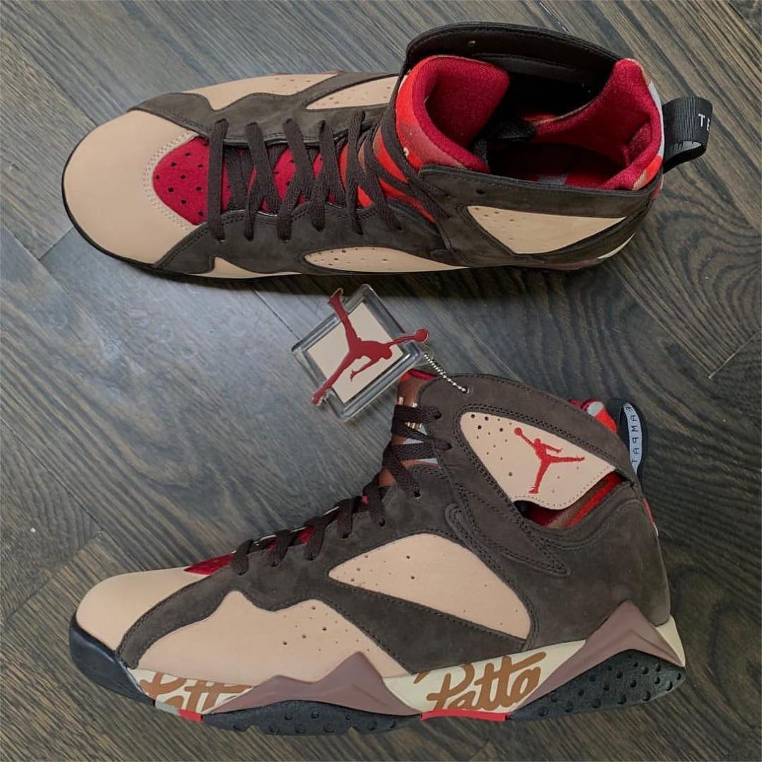 Here's another look at Patta's upcoming Air Jordan 7 courtesy of @DJClarkKent. A...