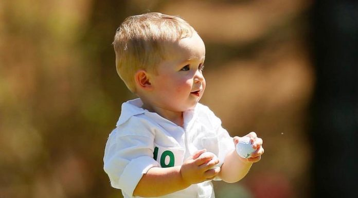 Jordan Brand laced @KeeganBradley1's son with a pair of @TheMasters inspired Air...