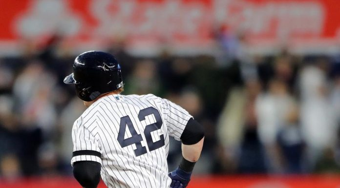 The Yankees' Clint Frazier put spikes on a pair of Nigel Sylvester x Air Jordan ...