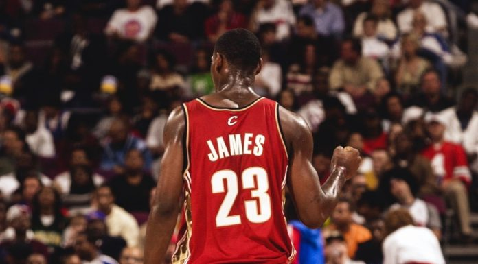 Prior to LeBron James getting his own signature, he laced Air Jordans on court i...