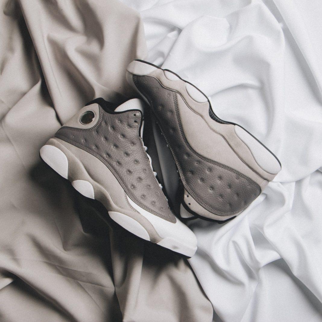 "The ""Atmosphere Grey"" Air Jordan 13 is helping Jordan Brand usher in spring. Thi..."
